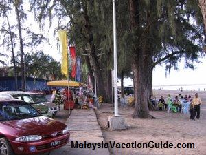 Batu Buruk Beach Food Stalls