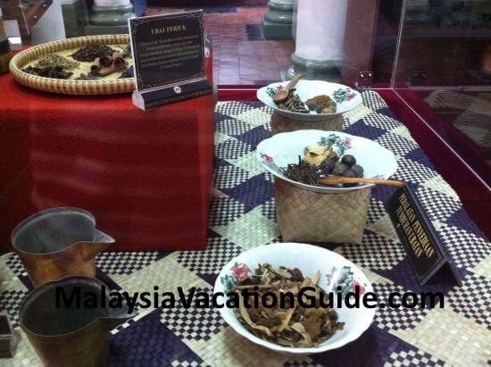 Malay traditional herbs exhibits at IMR, KL.