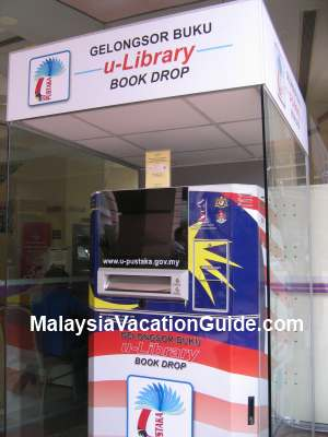 Kuala Lumpur Library Book Drop Kiosk