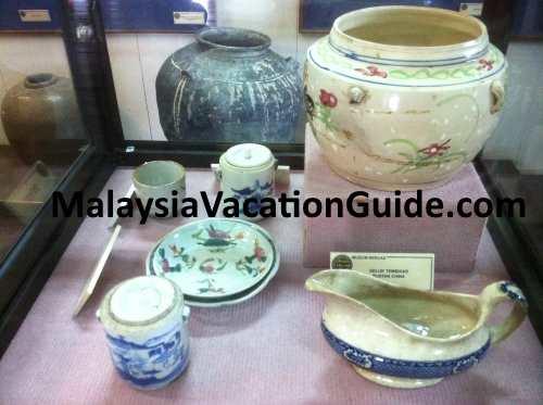 Chinese porcelains at Beruas Museum.