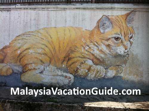Cat mural Penang