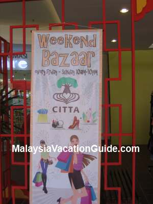 Citta Mall Weekend Bazaar Banner