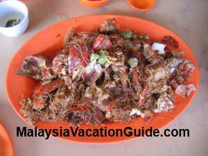 Fried crab with mee hoon Tanjung Sepat