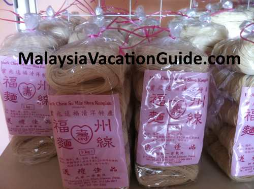 Mee suah packed for sale.