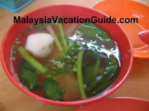 Fish ball and dumpling in soup