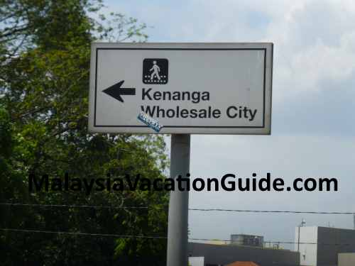Signage to Kenanga Wholesale City