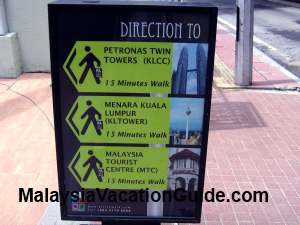 KL City Walk Signage