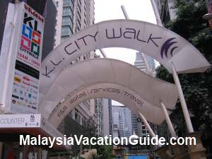 KL City Walk Entrance