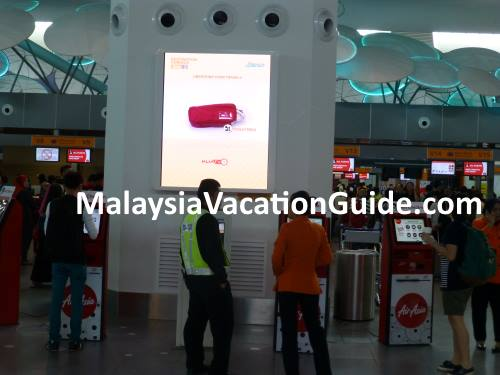 KLIA2 Self Check-in kiosk