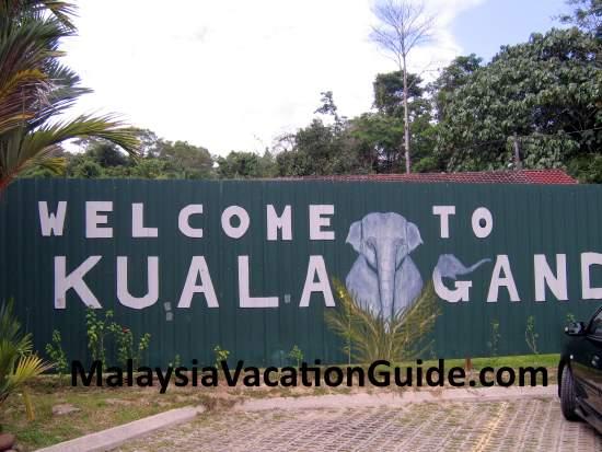Welcome to Kuala Gandah Elephant Sanctuary Signage