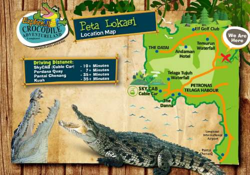 Langkawi Crocodile Farm Map