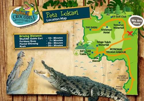 Langkawi Crocodile Farm Map