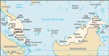 Malaysia Map - Map of malaysia