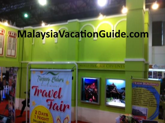 Melaka Tourism promotional booth at MITA.