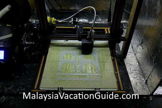 3D printing machine at work at MinNature Malaysia