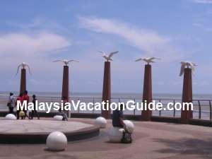 Morib Beach Statues