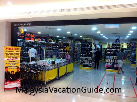 Mr. DIY outlet is the latest addition here. Get your household utensils and DIY goods here.