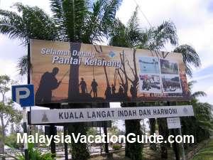 Kelanang Beach Signage