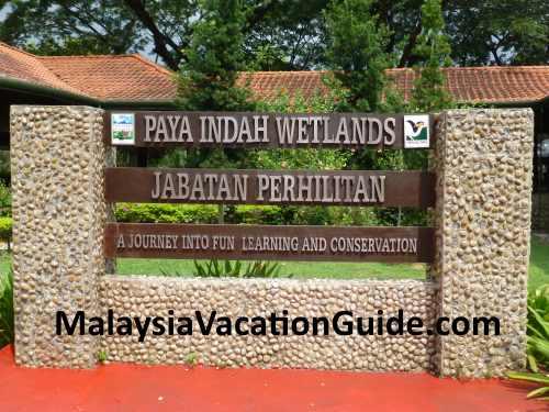 Paya Indah Wetlands Signage