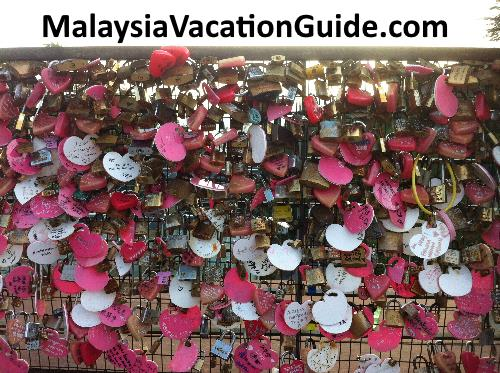 Penang HIll love padlocks.