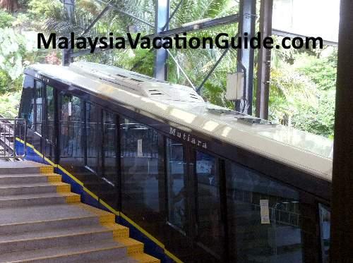 Penang Hill funicular train.