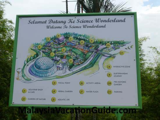 National Science Center map
