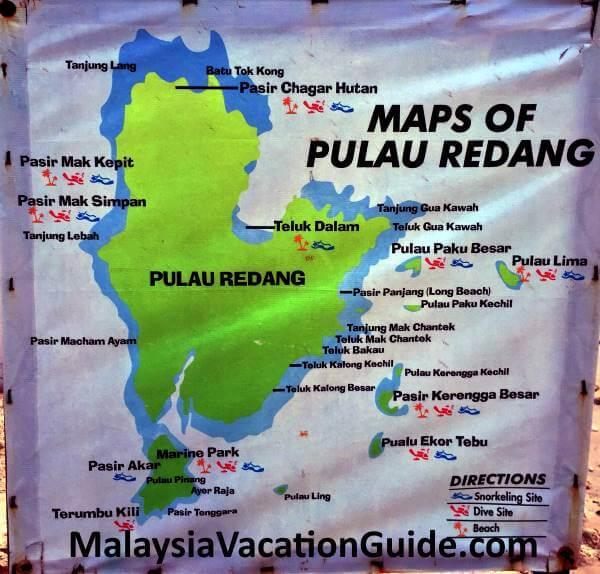 Map of Pulau Redang