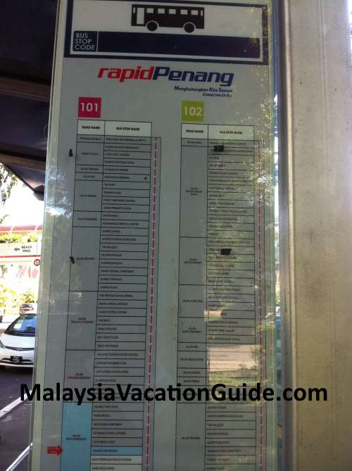 Rapid Penang Bus Stop