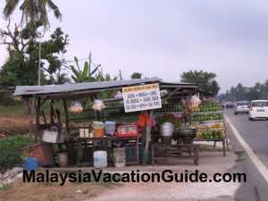Stalls in Sekinchan