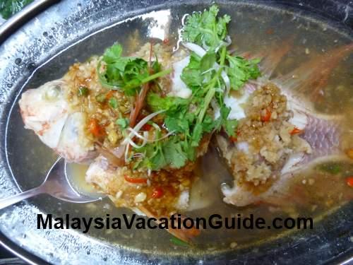 Steam Tilapia Fish at SS3 Double Joy Restaurant