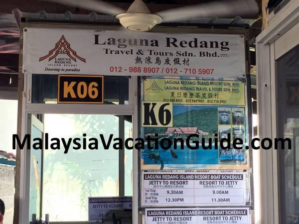 Syahbandar Jetty Laguna Redang Island Counter