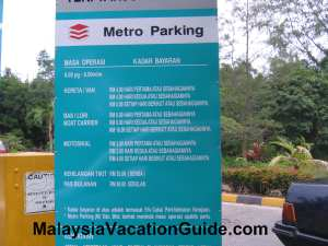 Tanjung Leman Parking Rates