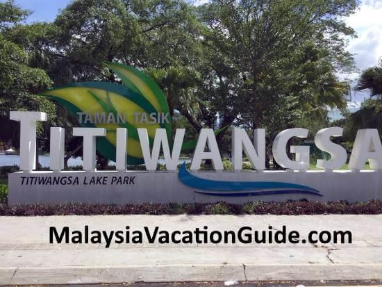 Tasik Titiwangsa Kuala Lumpur signage