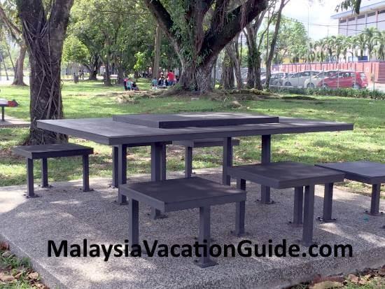 Tables and benches at Tasik Titiwangsa
