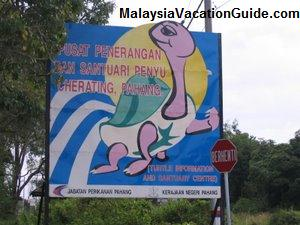 Cherating Turtle Sanctuary Signage