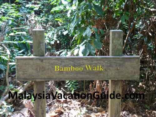 Bamboo Walk Signage.