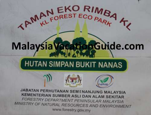 KL Forest Eco Park Signage.