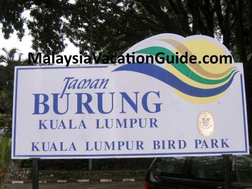 KL Bird Park Welcome Signage