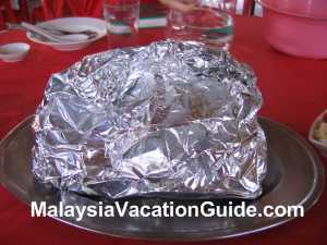Ijok Chicken in aluminium foil