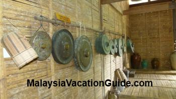 Sarawak Cultural Village musical instruments