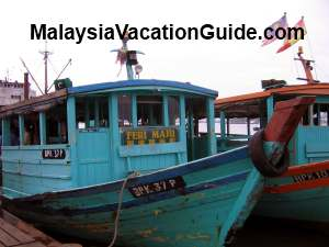 Non air-conditioned ferry to Pulau Ketam