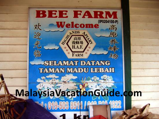 Bee Farm signage at Cameron Highlands