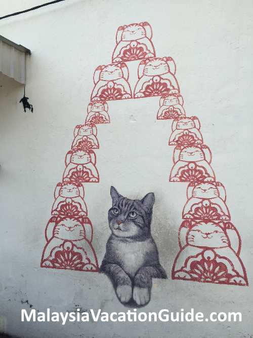 Gat Lebuh Armenian cat mural