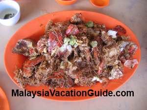 Fried crab with mee hoon Tanjung Sepat