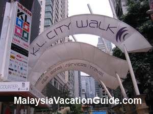 KL City Walk Entrance