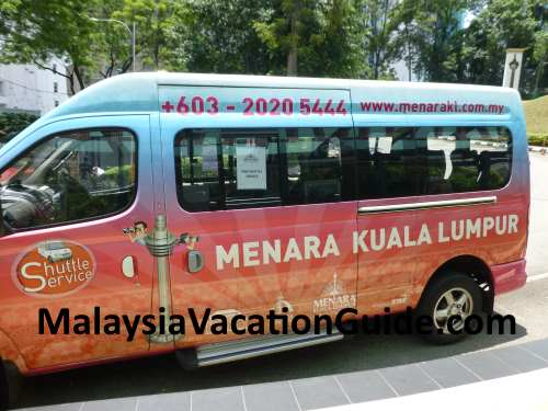 Free KL Tower shuttle service.