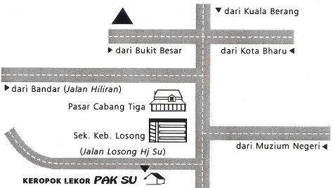 Pak Su Keropok Lekor Map