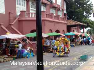 Trishaws in Melaka