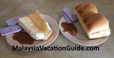 Toasted bread at Meng Fang in Kuantan, Pahang