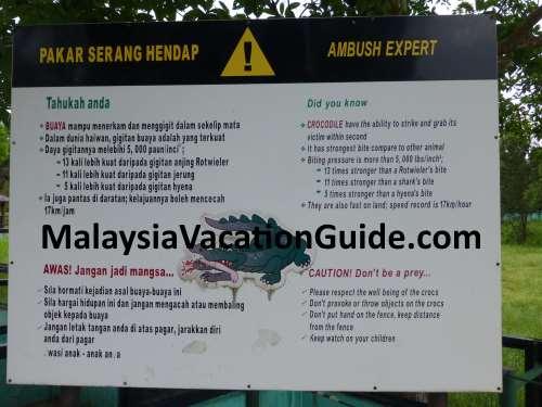 Paya Indah Crocodile Signage